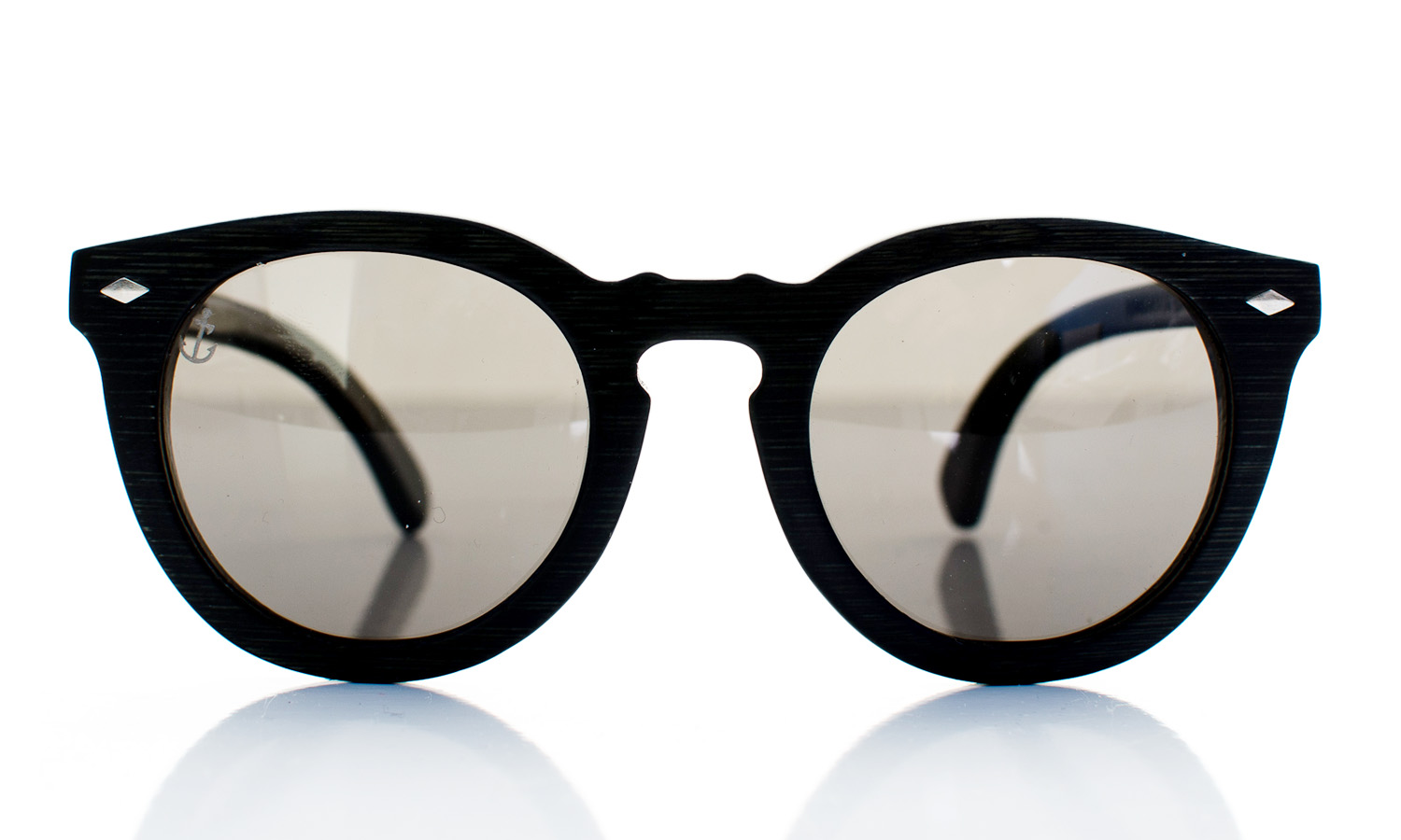 Conqueror Black Handcrafted Wooden Eyewear - Front View