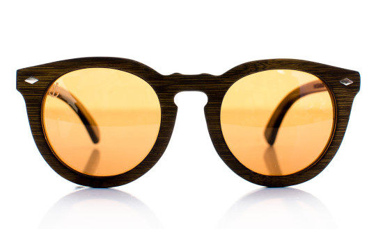 Conqueror Brown Handcrafted Wooden Eyewear - Front View