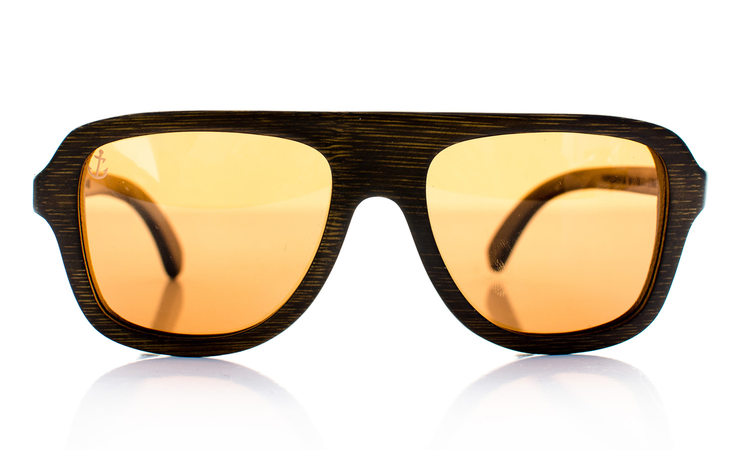 Aerostellar Wooden Eyewear Brown Bamboo Wood - Front View