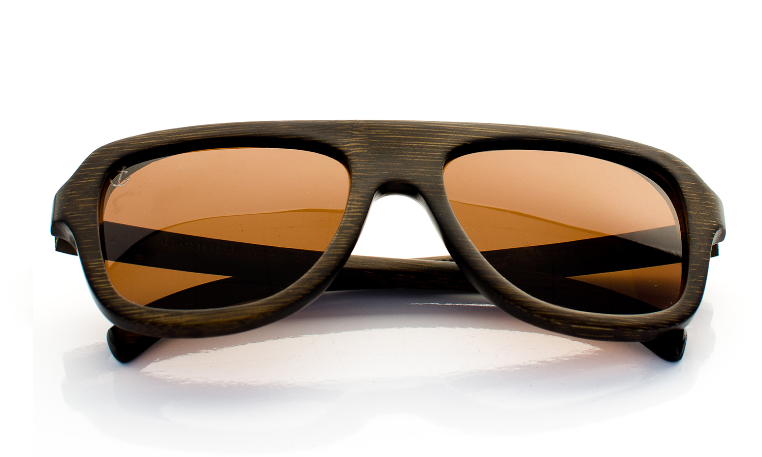 Aerostellar Wooden Eyewear Brown Bamboo Wood - Top View