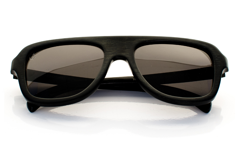 AeroStellar Handcrafted Wooden Eyewear Black Bamboo Wood - Top View