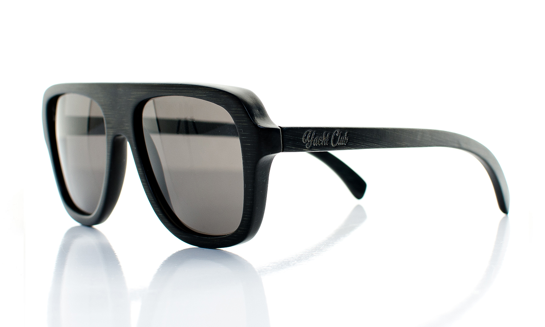 AeroStellar Handcrafted Wooden Eyewear Black Bamboo Wood - Side View
