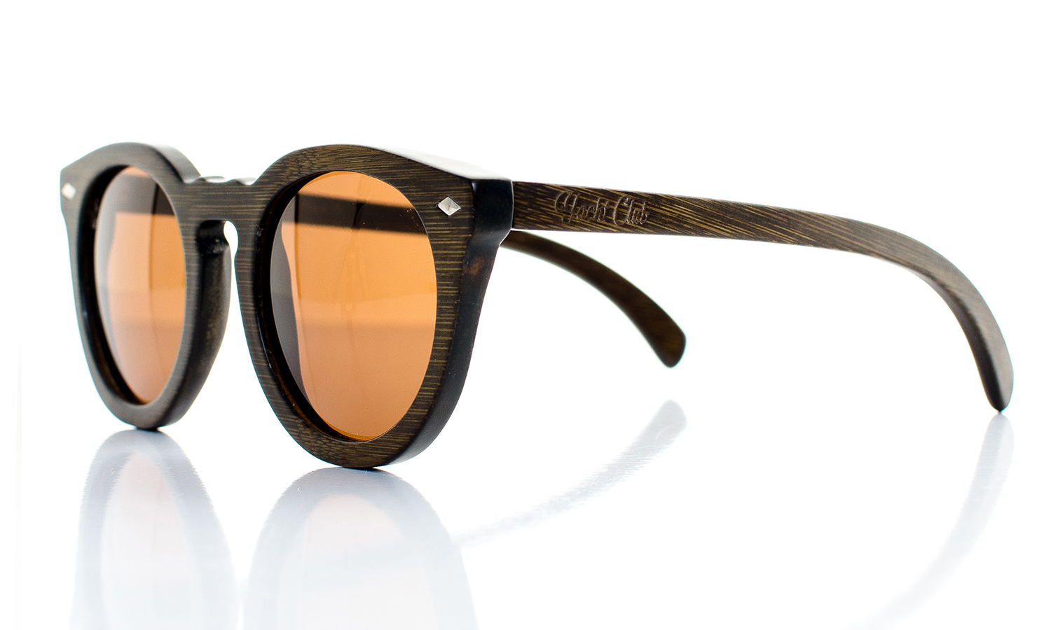 Conqueror Brown Handcrafted Wooden Eyewear - Side View