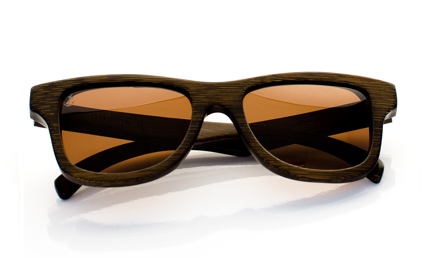 Seacrusher Handcrafted Wooden Eyewear Brown Bamboo Wood - Top