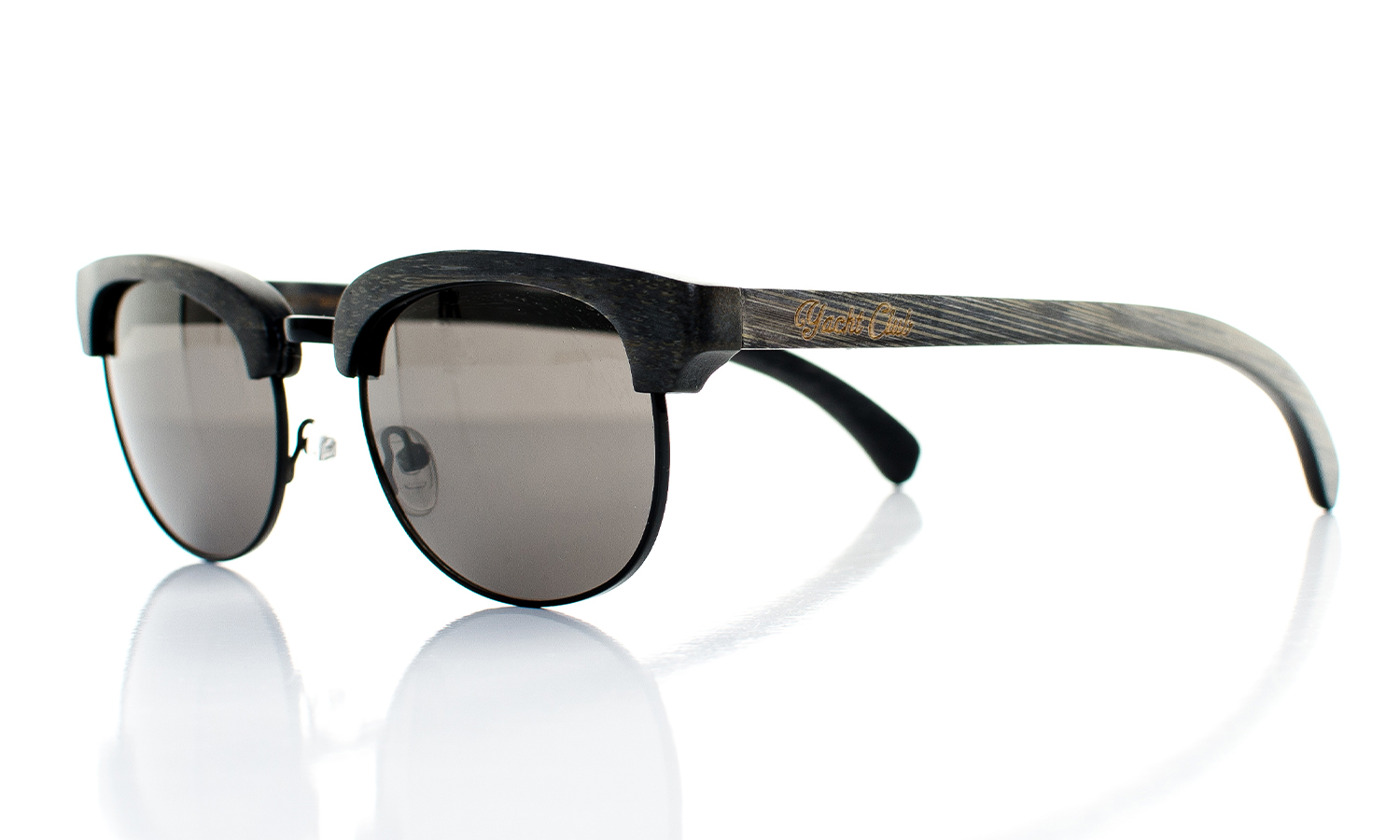 YachtMaster Handcrafted Wooden Eyewear Black Bamboo Wood - Side View