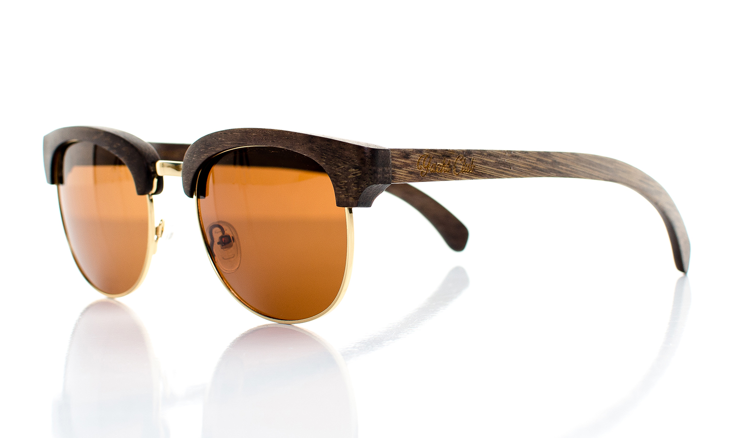 YachtMaster Handcrafted Wooden Eyewear Brown Bamboo Wood - Side View