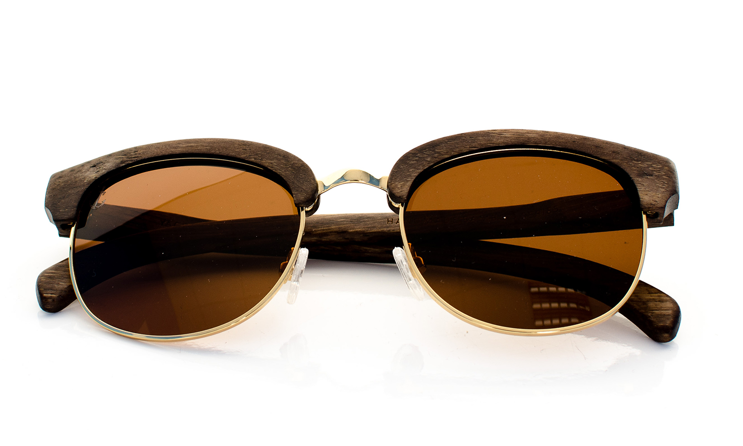 YachtMaster Handcrafted Wooden Eyewear Brown Bamboo Wood - Top View